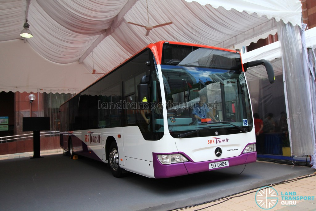 LTA Our Bus Journey Carnival - Ngee Ann City - Mercedes-Benz Citaro (SG1098A) on static display