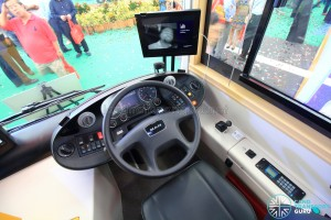 MAN Lion's City DD L Concept Bus Mock-up - Driver's Cab. Featuring driver fatigue and distraction detection software