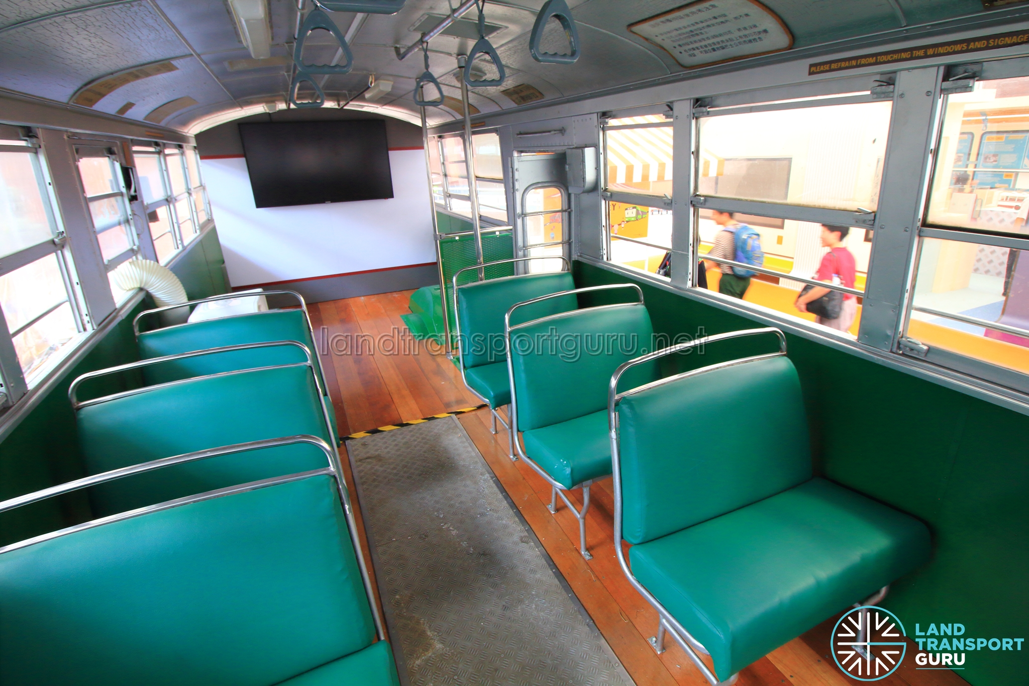 Antique Bus Seats : Restored singapore traction company bus nissan