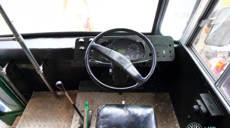 Dashboard, with gear stick and handbrake