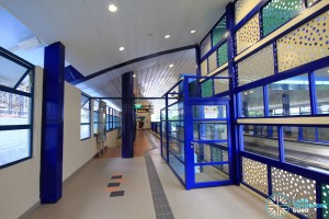 Bukit Panjang LRT Station - Corridor from Downtown Line