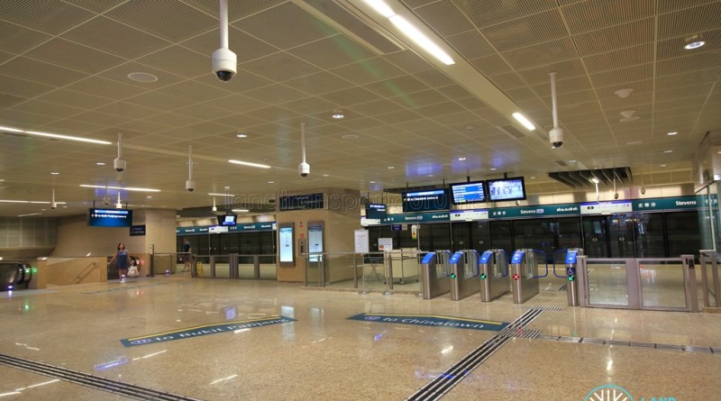 Stevens MRT Station - DTL Upper Concourse and Faregates (B3)