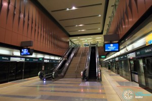 Cashew MRT Station - Platform level