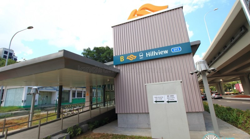 Hillview Station Exit B