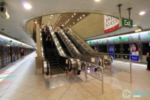 Bugis MRT Station - EWL escalators