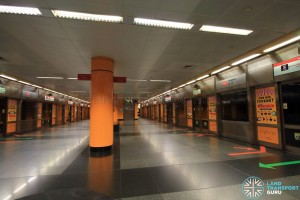 Novena MRT Station - NSL Platform level