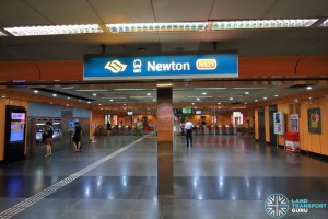 Newton MRT Station - NSL Ticket Concourse