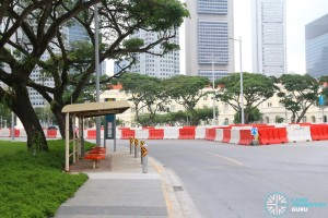Connaught Drive Temporary Bus Stop - to be reloated
