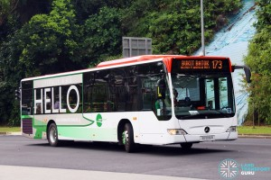 SG1006R on 173 - Tower Transit Mercedes-Benz Citaro