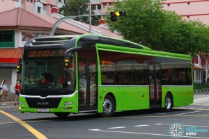 SG1712K on 300 - SMRT Buses MAN A22 in plain Green