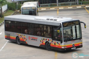 SMRT Mercedes-Benz OC500LE (SMB30Z) - Service 77, in SMRT Buses' New Livery