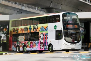 SG5005S on 106 - Tower Transit Volvo B9TL