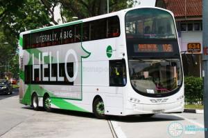 SG5007L on 106 - Tower Transit Volvo B9TL