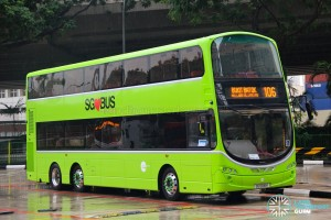 SG5016K on 106 - Tower Transit Volvo B9TL