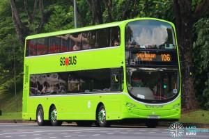 Tower Transit Volvo B9TL (SG5018E on 106)