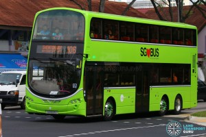 SG5021U on 106 - Tower Transit Volvo B9TL