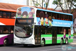 Tower Transit Volvo B9TL (SG5026G) in LTA Promotional livery