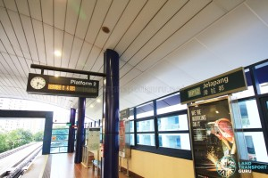 Jelapang LRT Station - Platform 2