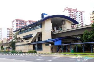 Keat Hong LRT Station - Exterior view