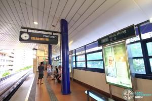 Keat Hong LRT Station - Platform 1