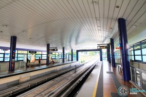 Bangkit LRT Station - Platform level