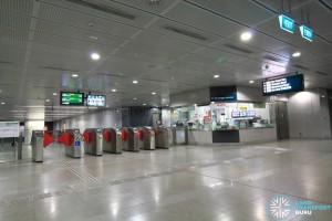 Caldecott MRT Station - Passenger Service Centre & Faregates