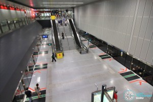 View of platform as seen from concourse