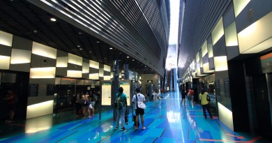 Stadium MRT Station - Platform level