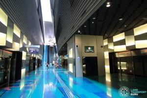 Stadium MRT Station - Platform level lift access