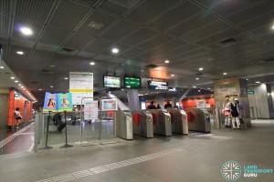 Paya Lebar MRT Station - CCL Ticket Concourse (South end faregates)