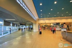 Paya Lebar MRT Station - EWL Concourse (L1). The new extension on the left leads to the CCL station.