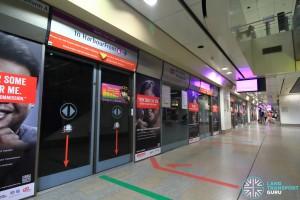 Serangoon MRT Station - NEL Platform A