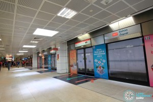 Bishan MRT Station - NSL Platform B , more spacious than Platform A