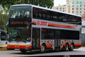SG5746L on 308, SMRT Buses MAN A95