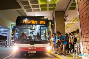 The last SMRT bus on revenue service to depart Bukit Batok attracts a crowd of bus enthusiasts