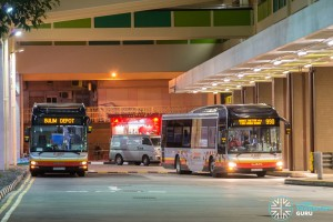 The final hours of SMRT bus operations