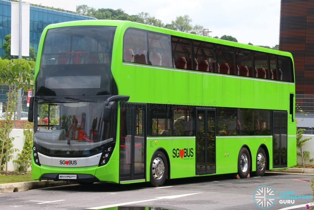 Alexander Dennis Enviro500 Mockup Bus at LTA Headquarters, Hampshire Road