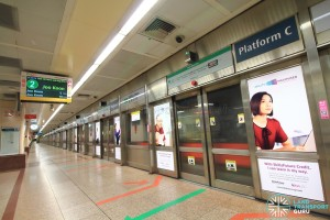 Raffles Place MRT Station - Platform C (Westbound EWL)