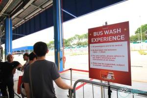 Queue for Bus Wash