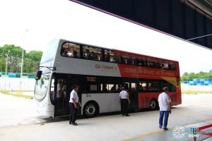 Bus Wash tour bus