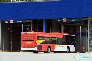 Mercedes-Benz Citaro entering Bus Wash