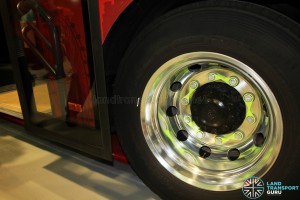 Loose wheel nut indicators on GAS buses