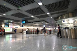 Hougang MRT Station - North Faregates & Passenger Service Centre
