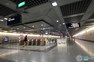 Hougang MRT Station - South Faregates near Exit A