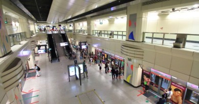 View of platform from concourse