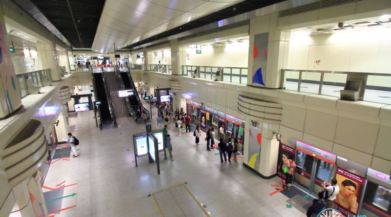 Farrer Park MRT Station - View of platform from concourse
