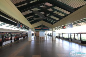 Sembawang MRT Station - Platform level