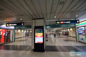 Braddell MRT Station - Ticket concourse (Unpaid area)