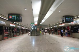 Somerset MRT Station - Platform level
