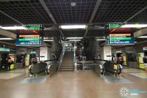 B2 Platform level, with escalators/stairs to upper and lower floors